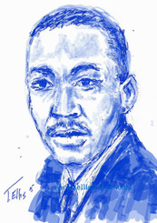 """Martin Luther King Jr. was a Baptist minister and social activist, who led the Civil Rights Movement in the United States from the mid-1950s until his death by assassination in 1968.  http://www.biography.com/people/martin-luther-king-jr-9365086  Black History...American History 