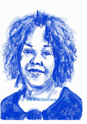 """Ruby Bridges, 17x11 T. Ellis signed digital print $30.00 www.tellisfineart.com  Ruby Bridges was the first African-American child to attend an all-white public elementary school in the American South.  http://www.biography.com/people/ruby-bridges-475426  Black History...American History 