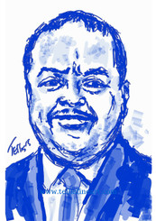 "Roland Martin, 17x11, digital print signed by T. Ellis $30.00 www.tellisfineart.com  Celebrating Black History  Roland Sebastian Martin is an American journalist and syndicated columnist with Creators Syndicate and author. He is a commentator for TV One and the host of News One Now, a one-hour weekday morning news show on the network.  https://en.wikipedia.org/wiki/Roland_Martin_(journalist) For Immediate Release Media Contact:Carolyn M. Thibodeaux, Children's & YA Librarian Port Arthur Public Library 4615 9th Ave Port Arthur, TX 77642 (409) 985-8838 ext.2237 Port Arthur Public Library Commemorates Black History Month through Art-STEM ( STEAM) Port Arthur Texas - In commemoration of Black History month, The PAPL is elated to exhibit the Art of leveraging Science Technology and History through art and technology featuring a comprehensive collection of artwork from Ted Ellis featuring 29 Drawings of African Americans including biographies of 29 African Americans created with the use of Samsung technology on their Galaxy Note 5 mobile phone. This will be a first exhibit of its kind in the PAPLs History. The exhibit starts February 1 through Feb. 29, 2016 with a free opening reception scheduled Thursday February 11, 2016. Fueled by his passion for his family and his heritage; enabled by his artistic skill and commitment to excellence, Ted Ellis paints ""subjects that are representative of the many facets of American life, particularly, African-American culture and history"" as he knows It. ""I like to think of myself as a creative historian. I was put here to record history…all aspects of American culture and heritage. My sole purpose has always been to educate through my art."" With more than 30 years in the arts industry. Ted is not only a talented and creative artist he is fully capable of capturing the tone and significance of momentous events in a timely manner. Ted Ellis Fine Art is synonymous to the American experience, not just from the African American's perspective but from a cultural and iconic Ideal.Ellis recently presented ""Bloody Sunday-Selma, 1965"" at the 50th Anniversary Commemoration Event. Learn more about T. Ellis,www.tellisfineart.com. For more information on the Art-STEM ( STEAM) and how you can support this event, please contact the Port Arthur Public Library (409) 985-8838 ext.2237"