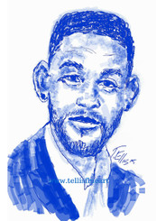 "Will Smith, 17x11 digital signed print by Ted T. Ellis www.tellisfineart.com $30.00  In recognition of Black History Month | Will Smith  Will Smith transitioned from successful rapper to Hollywood A-lister, starring on 'The Fresh Prince of Bel-Air before headlining such films as 'Independence Day,' 'Men in Black' and 'Ali.' http://www.biography.com/people/will-smith-9542165 https://www.youtube.com/watch?v=DeXUj8xOWtg  For Immediate Release Media Contact:Carolyn M. Thibodeaux, Children's & YA Librarian Port Arthur Public Library 4615 9th Ave Port Arthur, TX 77642 (409) 985-8838 ext.2237 Port Arthur Public Library Commemorates Black History Month through Art-STEM ( STEAM) Port Arthur Texas - In commemoration of Black History month, The PAPL is elated to exhibit the Art of leveraging Science Technology and History through art and technology featuring a comprehensive collection of artwork from Ted Ellis featuring 29 Drawings of African Americans including biographies of 29 African Americans created with the use of Samsung technology on their Galaxy Note 5 mobile phone. This will be a first exhibit of its kind in the PAPLs History. The exhibit starts February 1 through Feb. 29, 2016 with a free opening reception scheduled Thursday February 11, 2016. Fueled by his passion for his family and his heritage; enabled by his artistic skill and commitment to excellence, Ted Ellis paints ""subjects that are representative of the many facets of American life, particularly, African-American culture and history"" as he knows It. ""I like to think of myself as a creative historian. I was put here to record history…all aspects of American culture and heritage. My sole purpose has always been to educate through my art."" With more than 30 years in the arts industry. Ted is not only a talented and creative artist he is fully capable of capturing the tone and significance of momentous events in a timely manner. Ted Ellis Fine Art is synonymous to the American experience, not just from the African American's perspective but from a cultural and iconic Ideal.Ellis recently presented ""Bloody Sunday-Selma, 1965"" at the 50th Anniversary Commemoration Event. Learn more about T. Ellis,www.tellisfineart.com. For more information on the Art-STEM ( STEAM) and how you can support this event, please contact the Port Arthur Public Library (409) 985-8838 ext.2237 ‪#‎Oscar‬ ‪#‎WillSmith‬ ‪#‎JadaPinkett‬ ‪#‎theFreshPrinceofBellAir‬ ‪#‎Ali‬ ‪#‎MeninBlack‬ ‪#‎Concussion‬ ‪#‎IndependeceDay‬"