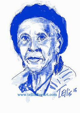 """Margaret Burroughs, 17x11 signed digital print by T. Ellis $30.00 www.tellisfineart.com """"What will your legacy be?"""". Margaret Burroughs   In recognition of Black History Month...