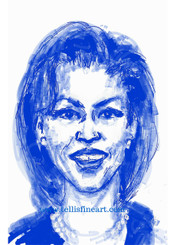 """First Lady Michelle Obama 17x11 signed digital T. Ellis print $30.00 www.tellisfineart.com DAY#28 In recognition of Black History Month..First Lady Michelle Obama Michelle Obama is the 44th first lady of the United States and wife of U.S. President Barack Obama. Prior to her role as first lady, she was a lawyer, Chicago city administrator and community-outreach worker. http://www.biography.com/people/michelle-obama-307592 https://www.youtube.com/watch?v=DeXUj8xOWtg For Immediate Release Media Contact:Carolyn M. Thibodeaux, Children's & YA Librarian Port Arthur Public Library 4615 9th Ave Port Arthur, TX 77642 (409) 985-8838 ext.2237 Port Arthur Public Library Commemorates Black History Month through Art-STEM ( STEAM) Port Arthur Texas - In commemoration of Black History month, The PAPL is elated to exhibit the Art of leveraging Science Technology and History through art and technology featuring a comprehensive collection of artwork from Ted Ellis featuring 29 Drawings of African Americans including biographies of 29 African Americans created with the use of Samsung technology on their Galaxy Note 5 mobile phone. This will be a first exhibit of its kind in the PAPLs History. The exhibit starts February 1 through Feb. 29, 2016 with a free opening reception scheduled Thursday February 11, 2016. Fueled by his passion for his family and his heritage; enabled by his artistic skill and commitment to excellence, Ted Ellis paints """"subjects that are representative of the many facets of American life, particularly, African-American culture and history"""" as he knows It. """"I like to think of myself as a creative historian. I was put here to record history…all aspects of American culture and heritage. My sole purpose has always been to educate through my art."""" With more than 30 years in the arts industry. Ted is not only a talented and creative artist he is fully capable of capturing the tone and significance of momentous events in a timely manner. Ted Ellis Fine Art is synonymous """