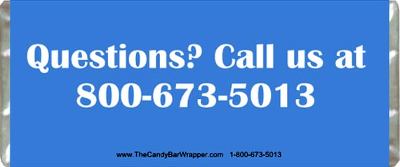 Custom Candy Wrappers Back
