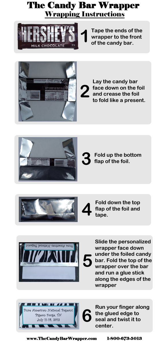 The Candy Bar Wrapper Wrapping Instructions