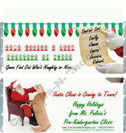 Santa's List Candy Wrappers
