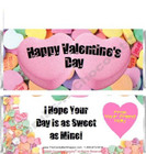Conversation Hearts Candy Wrappers Sample