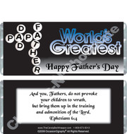 Greatest Dad Father's Day Candy Wrappers