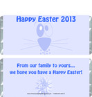 Blue Easter Bunny Candy Wrapper Sample