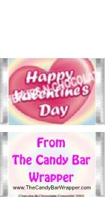 Mini Valentine Candy Bars Sample