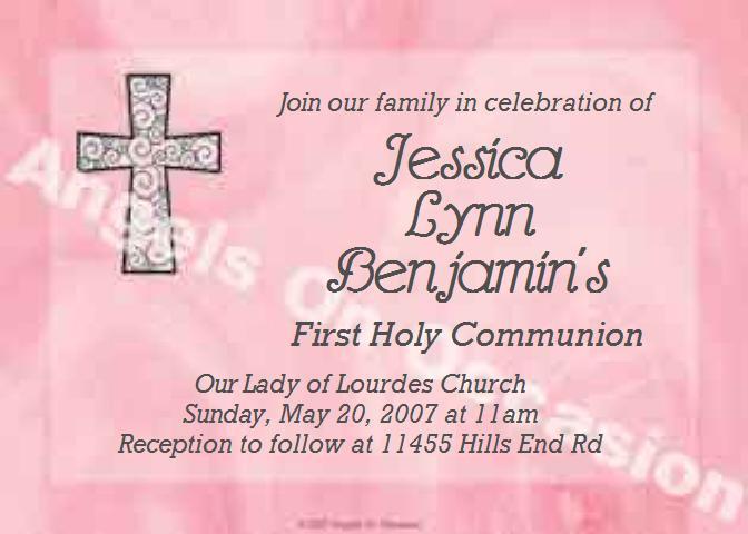 Baptism Invitations First Holy Communion Invitations