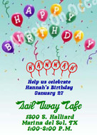 Birthday Party Invitation Sample