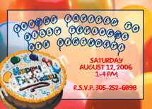 Kids Party Invitations Sample