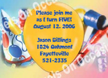 Children's Birthday Invitations Sample