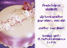 Birthday Invitation Sample