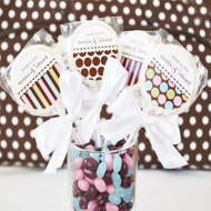 Dots & Stripes Lollipop Favors