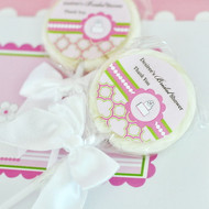 Personalized Lollipop Favors - Pink Cake