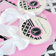 Paris Themed Personalized Lollipop Favors