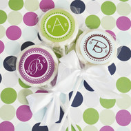 Monogram Personalized Lollipop Favors