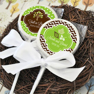 Personalized Fall Lollipop Favors