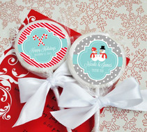 Personalized Winter Lollipop Favors