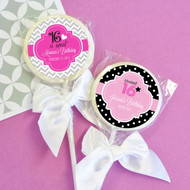 Personalized Sweet 16 or 15 Lollipop Favors