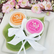 Cherry Blossom Personalized Lollipop Favors