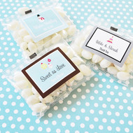 A Winter Holiday Personalized Jelly Bean Favors