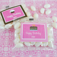 Personalized Birthday Jelly Bean Favors