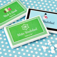 A Winter Holiday Mini Mint Favors