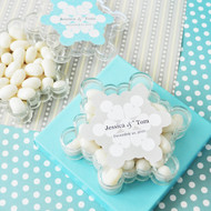 Snowflake Acrylic Favor Containers