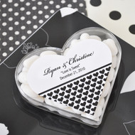 Clearly in Love Personalized Acrylic Favor Containers