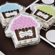Cupcake Shaped Personalized Acrylic Favor Containers