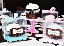 Birthday Cupcake Favor Containers