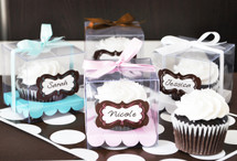 Graduation Cupcake Favor Containers