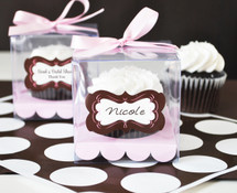 Wedding Shower Cupcake Containers