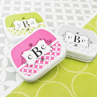 Modern Monogram Personalized Mint Tins