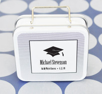 Graduation Suitcase Tins