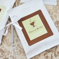 A Lovely Mix Personalized Hot Cappuccino Mix Favors