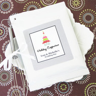A Winter Holiday Personalized Hot Cappuccino Mix Favors