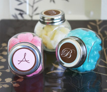 Monogram Personalized Candy Jars
