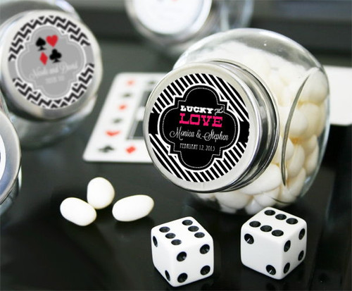 Personalized Vegas Candy Jars