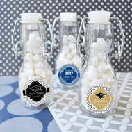 Personalized Graduation Mini Glass Bottles