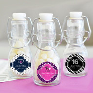 Personalized Sweet 16 or 15 Mini Glass Bottles