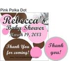 Pink Polka Dot Hershey Kiss Pillow Packs