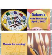 Birthday Cake Candy Bars Sample