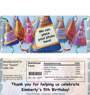 Birthday Hats Candy Bars Sample