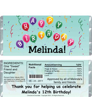Birthday Balloons Candy Bars Sample