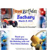 Birthday Boy Candy Bars Sample