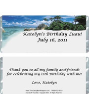 Luau Personalized Candy Bars