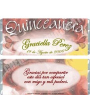 Quinceanera Personalized Candy Bars